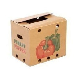 Kraft Paper Brown Vegetable Packaging Boxes, For Food