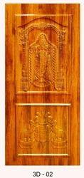 Teak Wood Color 3D Membrane Door