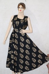 Rayon Gold Frock