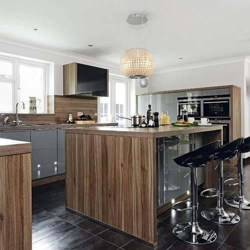 High Gloss Kitchen Island: Gloss Island Kitchen Manufacturer