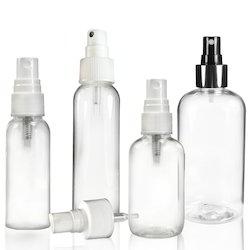 Spray Cap Transparent Plastic Bottle
