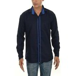 Mens Casual Plain Shirt, Size: 40.0