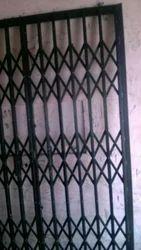 Black Mild Steel Channel Gate, For Residential