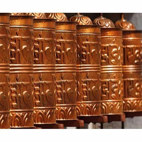 Multi Non Woven Vinyl Buddhist Temple Bells Custom Wall Covering Wallpaper Size