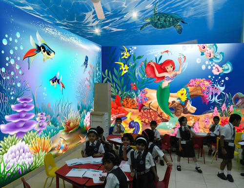 School Wall Painting   School Wall Cartoon Painting Services Manufacturer  From Pune