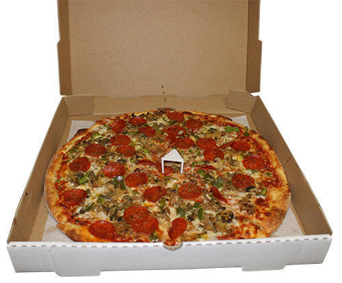 10 Inch Brown White Printed Pizza Box At Rs 8 5 Piece