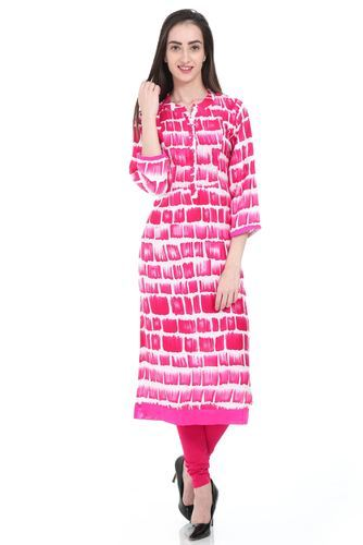 Regular Printed Swagg Pink Kurti f761b1f38