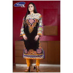 Georgette Black Party Wear Embroidered Suit