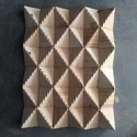 Teak Diamond Pattern Mosaic Tile
