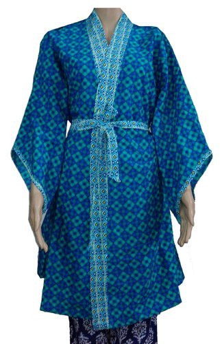 Multicolors Cotton Indian Beautiful Womens Dressing Gowns Bathrobes