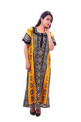 Ladies Cotton Sleepwear Gowns, Size: L