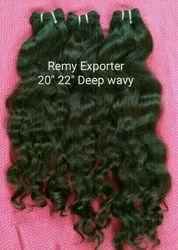 Natural Virgin Temple Human Wavy Hair