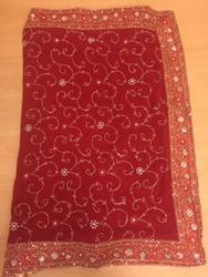 Heavy Embroidered Dabka Saree