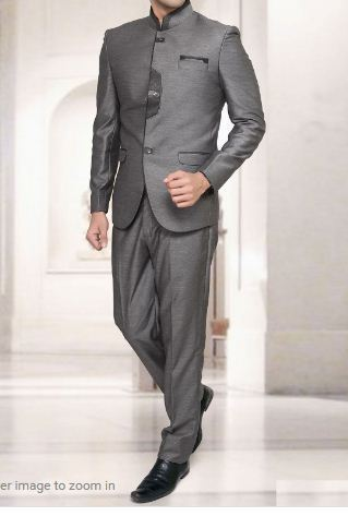 da8cca82f Gray Terry Rayon Solid Jodhpuri Suit at Rs 7660  piece