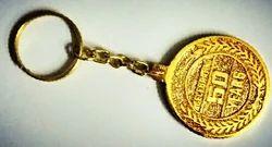 Gold Plated Brass Round Keychains