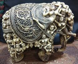 Grey White Dust Marble Aerawat Elephant, Size/Dimension: 8 Height 10 Length 6 Width