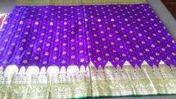 Banarasi Polyster Saree, Construction Type: Machine