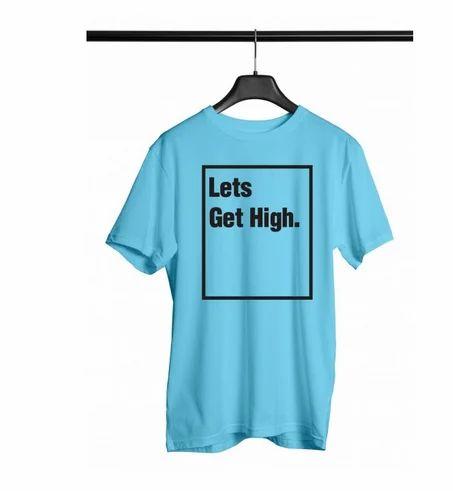 9736c4c23 Black Slogan Tees Men T Shirts at Rs 220 /piece(s) | Gents T-Shirts ...
