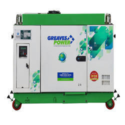 2.5 kVA Greaves Power Air Cooled Diesel Generator, Weight: 280 Kg