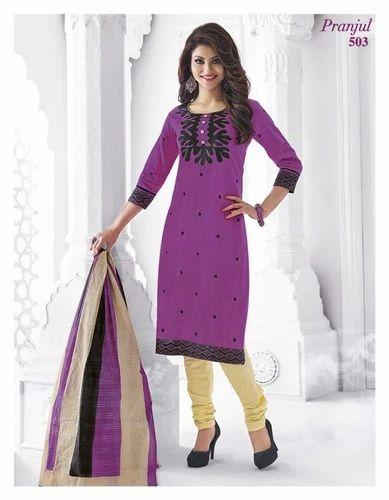 584c01023c Printed Shree Ganesh Pranjul Cotton Dress Material, Rs 399 /piece ...