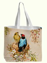 Love Bird Design Printed Cotton Bag