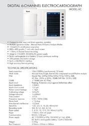 Digital 6- Channel Electrocardiograph Machine Model 6T