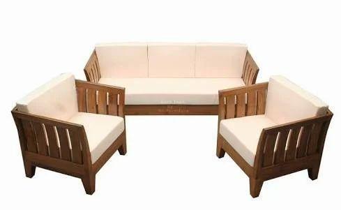 Teakwood 5 Seater Sofa Set