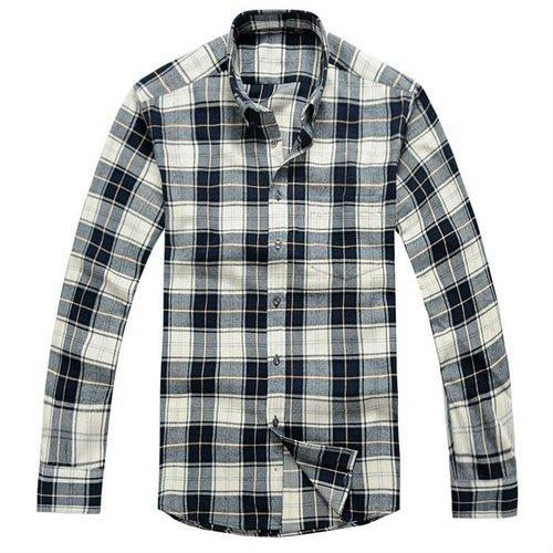 7102599eb Men  s Black And White Check Shirt at Rs 300  piece