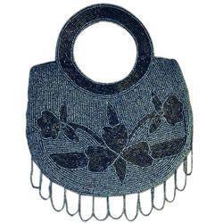 Cotton Canvas Blue,Black etc. Sequin Ladies Fashion Bag