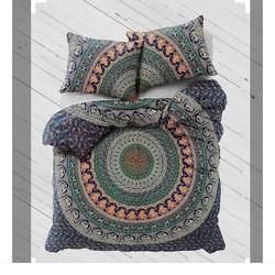 Cotton Block Print Mandala Bedsheets Set