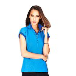 Rib Tip Polo T Shirt (Women)