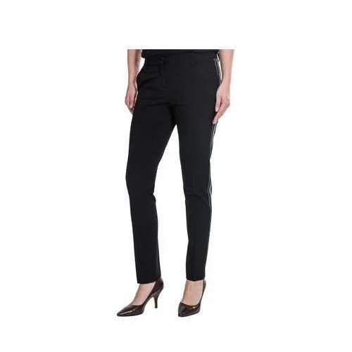 068f6d02713a Pleated Pants Black Ladies Narrow Pant