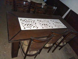 6 Person Wooden Dining Table