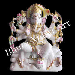 Shri Ganesha Marble Statue