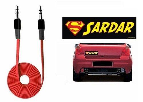 Speedwav car bumper sticker sardar anti tangled 3 5 c