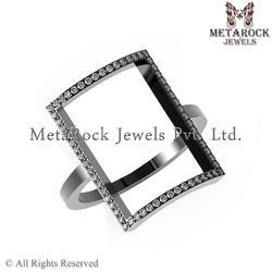 Wedding Diamond 92.5 Sterling Silver Rings
