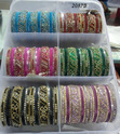 Stone Studded Colored Fashion Bangles