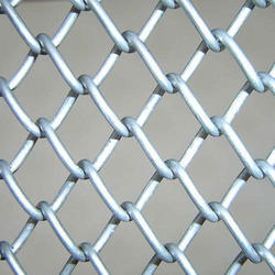 Silver Galvanized Iron Chain Link Fencing, Material Grade: Gi