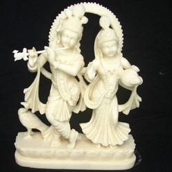 Radha Krishna Playing Flute In Resin Radha Krishna 16