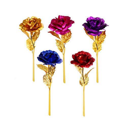 Elegant Romantic 24K Golden Rose Flower