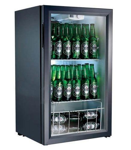 Mini Bar Glass Door Refrigerator Kitchen Equipment King Co New