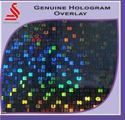 Genuine Holographic Overlay for Documents Cards