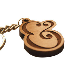 Trendy Wooden Keychain