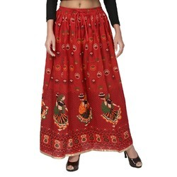 Jaipuri Print Cotton Skirts