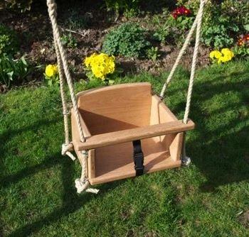 Wooden Swing For Baby Tyres2c