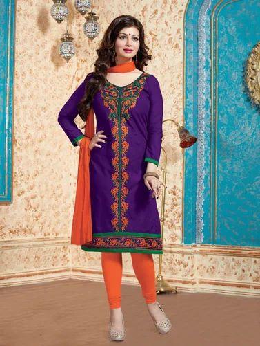Purple Cotton Dress