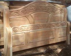 Cot Wood Teek Headboard