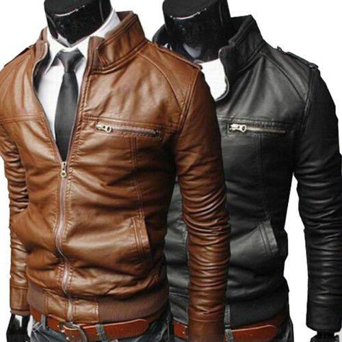 Genuine Leather Jacket Biker Jacket, Leather Motorbike Jacket ...