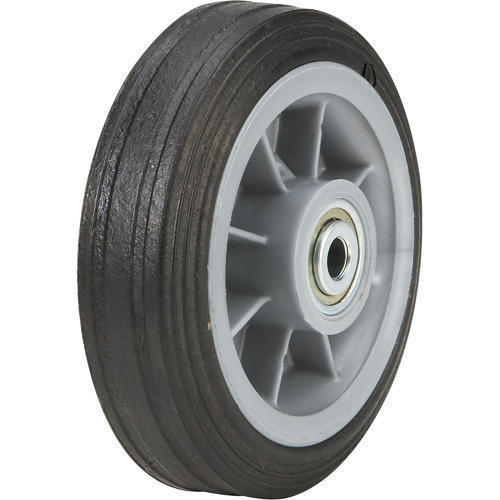 Black Rubber Type Wheel, Size: 6 Inch To 12 Inch