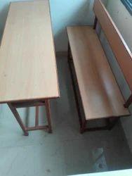 M.S & Wooden Desk Bench